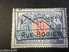 BELGIQUE 1902, timbre COLIS POSTAUX 36, TRAINS, oblitéré, PARCEL POST USED STAMP