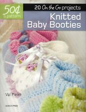 20 PAIR KNITTED BABY BOOTIES by SEARCH PRESS ~ ADORABLE!!!