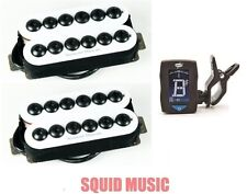 Seymour Duncan Invader Neck & Bridge 6 String Set White SH-8 (FREE GUITAR TUNER)