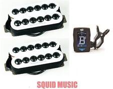 Seymour Duncan Invader Neck & Bridge 6 String Set White SH-8 (FREE GUITAR TUNER)