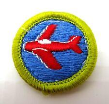Boy Scout Merit Badge - Type H Plastic Back - Aviation