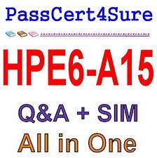 HP Aruba Certified Clearpass Professional v6.5 HPE6-A15 Exam Q&A PDF+SIM