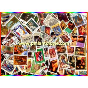 Tableaux timbres thématiques tous différents.
