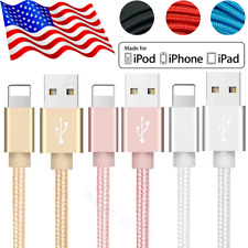 10Ft Braided USB Lightning Fast Charging Cable 2.4A Apple iPad iPhone 11 Charger
