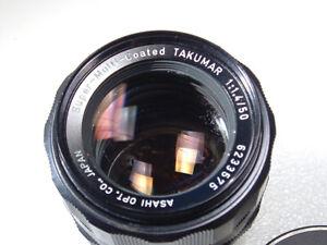 Pentax M42 Super Multi Coated Takumar 50mm f/1.4 Lens w/caps (READ)