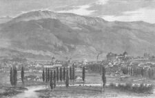 FRANCE. Treaty of Turin. town & lake Annecy, Savoie, antique print, 1860