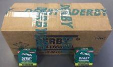 3X 5000 Derby Professional Single Edge Razor Blades (150 Packs of 100 Blades)