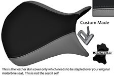GREY & BLACK CUSTOM 07-08 FITS KAWASAKI NINJA ZX6R FRONT LEATHER SEAT COVER