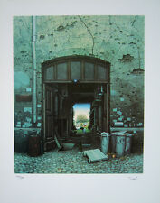PARADISE IN THE YARD Signed/Numbered Print Jacek Yerka Edition