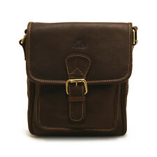 Rowallan - Small Brown Highlander Oiled Buffalo Leather Messenger Bag