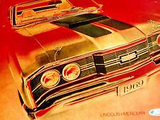 1969 MERCURY CYCLONE CJ ORIGINAL AD *302/351/390/428 v8/GT/steering wheel/hood