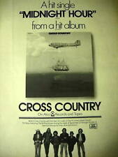 Cross Country former members of The Tokens Midnight Hour 1973 Promo Poster Ad