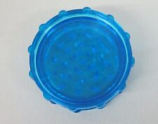 """2 3/4"""" BLUE Plastic 2 Piece Tobacco, Herb, Spice Grinder (Made in the USA)"""