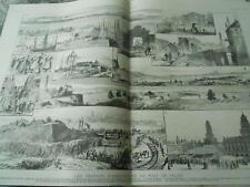 The improvement work du port of Calais large Engraving 1886