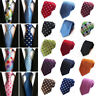 Skinny Slim Men's Tie Jacquard Woven Silk Necktie Party Wedding Polka Dot Tie