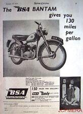 1957 Motor Cycles ADVERT - B.S.A. 'Bantam' & 'Dandy Light Scooter' Print AD
