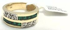 GENUINE 1.20 Cts EMERALD & DIAMONDS 14k GOLD RING *New with Tag & FREE Appraisal