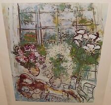 """MARC CHAGALL """"THE WHITE WINDOW"""" COLOR OFFSET LITHOGRAPH"""