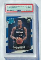 Bam Adebayo ROOKIE PSA 10 GEM MINT Miami Heat 2017 Optic #187