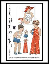 SIMPLICITY 1450 Sunsuit Playsuit Jumpsuit Pattern UNISEX BABY GIRL BOY Child KID
