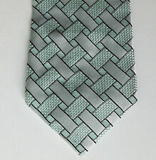 Vintage 1970s Tootal tie Pale green and white Woven polyester check
