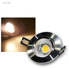 LED-Alu-Einbaustrahler 5W COB warmweiß, 230V, Deckenleuchte, Einbauleuchte Spot