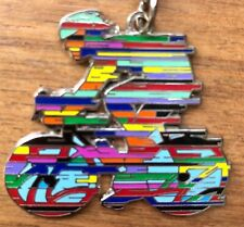 David Gerstein Metal Key Ring Chain Champion Tour D'France Cyclist Bicycle Rider