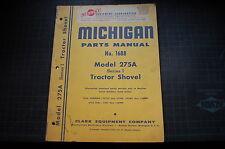 MICHIGAN 275A Front End Wheel Loader Parts Manual book spare list catalog shovel