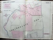 1942 DELAWARE CO PA UPPER DARBY SPRINGFIELD ARONIMINK GOLF WALSH PARK ATLAS MAP