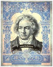 LUDWIG VAN BEETHOVEN Composer Genius Legend Engraving 8x10 19th Century Reprint