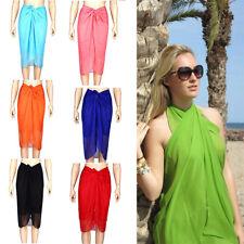 Large Sarong Beach Pareo Dress Wrap Swimwear Bikini Cover Up 120*150 Summer