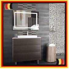 LED Badspiegel 100×60cm Lichtspiegel 23W 6000K Kaltweiß beleuchteter Wandspiegel