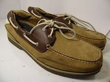 SPERRY TOP SIDER STINGRAY 2 EYE TAUPE BROWN Boat shoes Sz 13 M