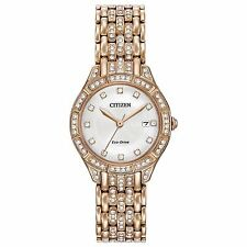 Citizen Eco-Drive Women's EW2323-57A Silhouette Crystal Rose Gold Bracelet Watch