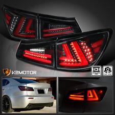 [Jet Black]For 2006-2008 Lexus IS250 IS350 Full LED Rear Tail Lights Brake Lamps