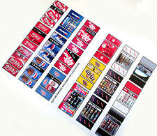 CUSTOM VENDING MACHINE STICKERS- COKE PEPSI DR-PEPPER M&M SNACKS, FOR TOYS, etc