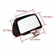 For Car Truck Side Rearview Wide Angle Square Blind Spot Safety Mirror Black