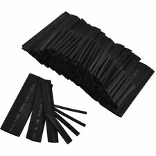 Good 127 Pcs Black Weatherproof Heat Shrink Sleeving Tubing Tube Assortment Kit