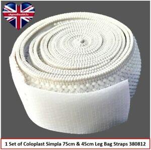 1 Set: Coloplast Simpla 75cm & 45cm Urine Leg Bag Straps 380812 Incontinence Aid