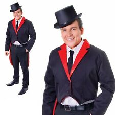 Bristol Novelty AC524 Tailcoat Costume Blackred 42 - 44-inch