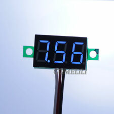 Mini DC 0.1-30V Blue LED Display Digital Voltage Voltmeter Panel for Motorcycle