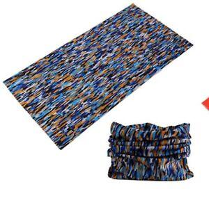 FACE MASK Sun Shield Balaclava Bandana Scarf - Orange & Blue (1 Pack)