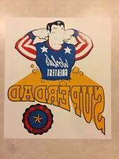 Vintage Shirt Heat Transfer Print Worlds Greatest SuperDad Hero of His Family!