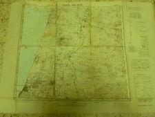 Tel Aviv Jaffa Idf Military Map 70*50 Cm On Palsetine Edition 1956 Israel