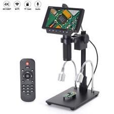 16MP 4K 1080P 5 Inch HDMI USB & WIFI Digital Microscope Camera 300X C-mount Lens
