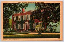 Federal Hill My Old Kentucky Home Bardstown, Kentucky Linen Postcard Unused