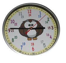 Kinder Wanduhr Kinderuhr Lernuhr Motiv Eule Einschulung Uhrzeit Schule Uhr