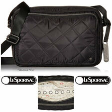 LeSportsac City Collection Crosby Crossbody Bag Phantom Black Quilted Free Ship