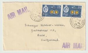FIJI 1964, AIR MAIL LETTER TO SWITZERLAND