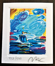 PETER MAX Original Hand Signed and Numbered Lithograph with Official Studio Seal